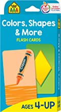 School Zone - Colors, Shapes and More Flash Cards - Ages 4 and Up, Shapes, Shape Recognition, Colors, Matching, Grouping, and More