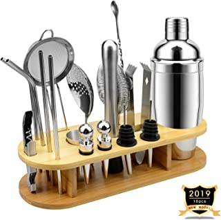 ISKETCH 18pcs Mixology Bartender Kit with Stand, 25oz...