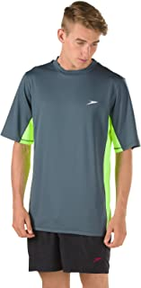 Speedo Men's UV Swim Shirt Short Sleeve Longview Tee