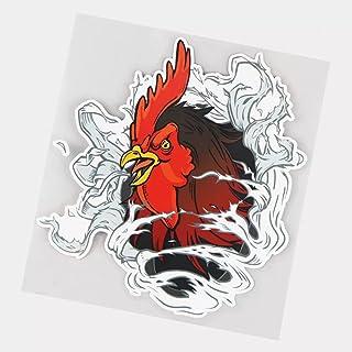 UYEDSR Pegatinas para coche, 2 unidades, diseño de pollo enojado para coche, adhesivo de PVC, 16,5 x 17,7 cm