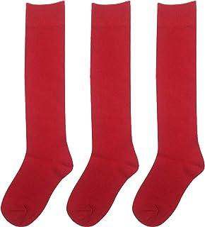 Oceano, AGD-3 pares de calcetines hasta la rodilla, calcetines de algodón botas altas, calcetines para niños y estudiantes de 2 a 14 años