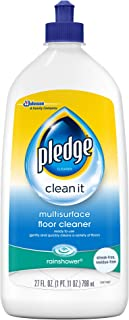 Sponsored Ad - Pledge Wood Floor Cleaner Liquid, Shines Hardwood, Removes Dirt, Safe and Gentle, Rainshower, 27 fl oz - Pa...