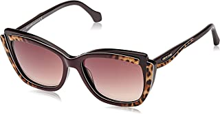 Roberto Cavalli Cat Eye Women's Sunglasses, Brown Frame and Gradient Lenses RC1051-83G 55