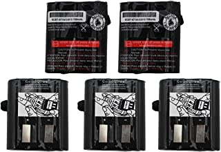 GoodQbuy 5Pcs 700mAh 3.6V Replacement NI-CD Two-Way Radio Battery Packs for Motorola Talkabout Radios MS350R MT350R EM1000 MC220R MR355 FV800 T4800