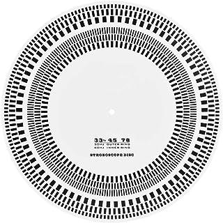Mavis Laven Profesional Disco de Vinilo LP Tocadiscos Phono Tacómetro Calibración Disco de estroboscopios para Discos de Vinilo Aficionados Aficionados