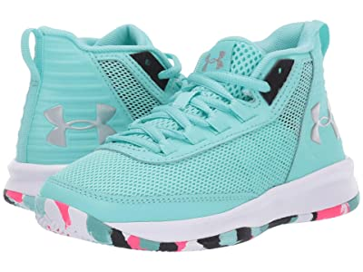 Under Armour Kids UA GPS Jet 2018 (Little Kid) (Mermaid/Black/Metallic Silver) Girls Shoes