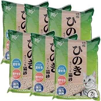 アイリスオーヤマ ひのきでつくった猫砂 7Lx6袋 (まとめ買い)