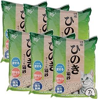 アイリスオーヤマ ひのきでつくった猫砂 7L×6袋 (まとめ買い)