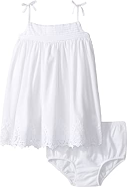 Batiste Lace Tiered Dress (Infant)