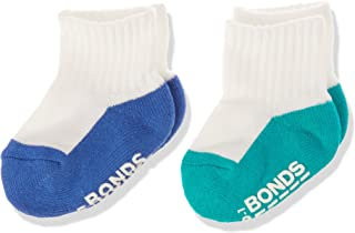 Bonds Baby Logo Quarter Crew Socks (2 Pack)