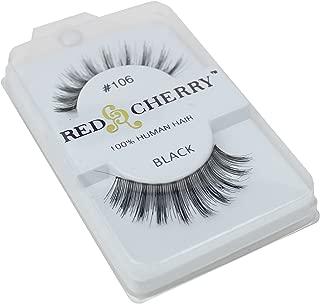 Red Cherry 100% Human Hair False Eye Lashes Fake Eye Lashes #106