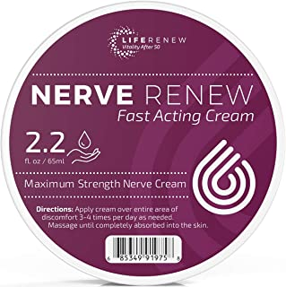 Sponsored Ad - Life Renew: Cream – Fast-Acting Nerve Pain Relief Cream – 2.2 fl. oz/65 ml – Maximum Strength and Fast Abso...