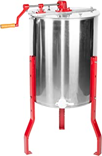 VIVO 4 to 8 Frame Stainless Steel Honey Extractor   SS Bee Honeycomb Drum (BEE-V004B)
