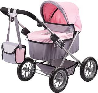 Bayer Design 1300800 Trendy Doll Pram, Grey/Pink