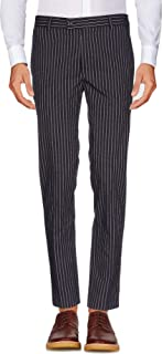 Men's Flat Front Slim Fit Wool Chambray Pinstripe Suit Separate Pant