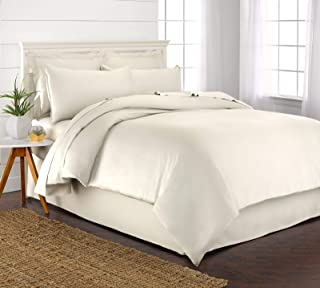 Pure Bamboo Queen Duvet Cover Set - 100% Organic Bamboo, Luxuriously Soft and Cooling - 3 Piece Set Includes 1 Queen Butto...