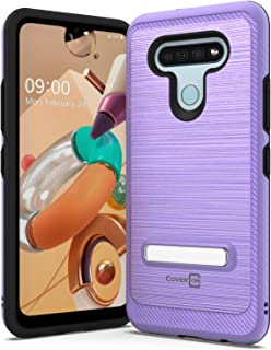 CoverON Metal Kickstand for LG K51 Case/LG Reflect Case, Reinforced Magnetic Stand Hybird Rugged Phone Cover - Purple