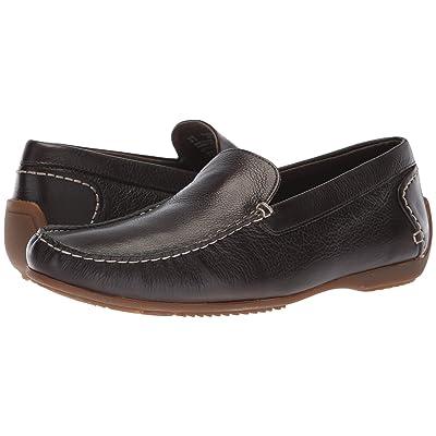 Hush Puppies Schnauzer Slip-On (Dark Brown Leather) Men