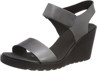 ECCO Freja Womens Wedge Sandal,Grey,Size,37