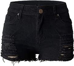 black cut off denim shorts