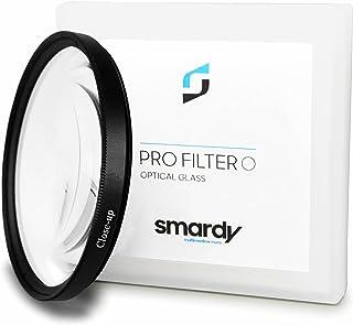 smardy 77mm Close Up Macro Filtro +4 dioptrías Lente de Cristal Lupa de aproximación - Ideal para Primeros Planos y macrofotografía de pequeños Objetos - Incluye práctica Caja de Transporte