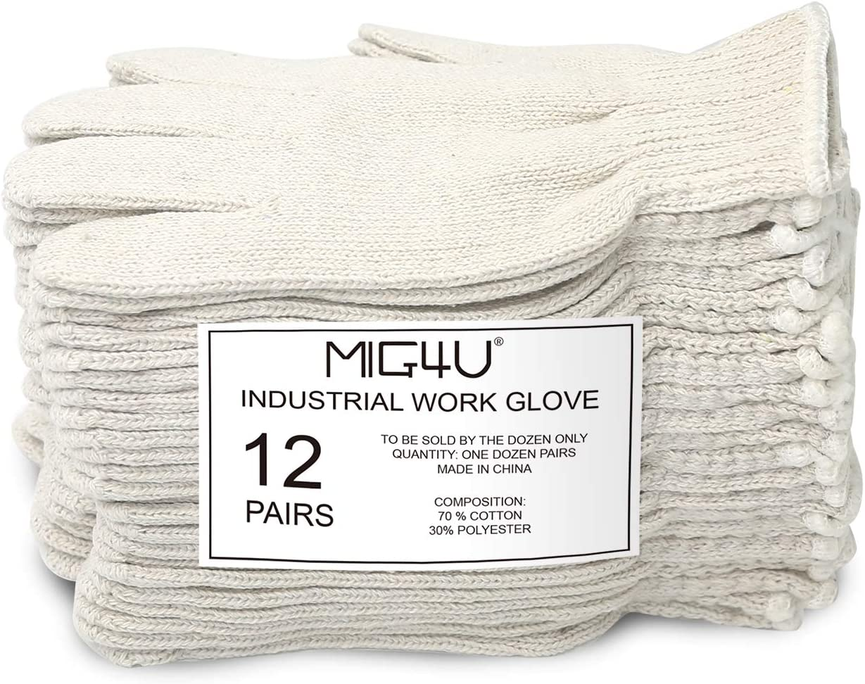 MIG4U Cotton Gloves Liners String Max 66% OFF Safety Knit New product! New type Work Gl Protection