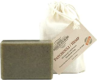 Patchouli Hemp with nettle 5 oz, all natural handmade cold process soap, essential oil soap.