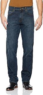 Wrangler Men's Regular Fit Dark Used Jeans