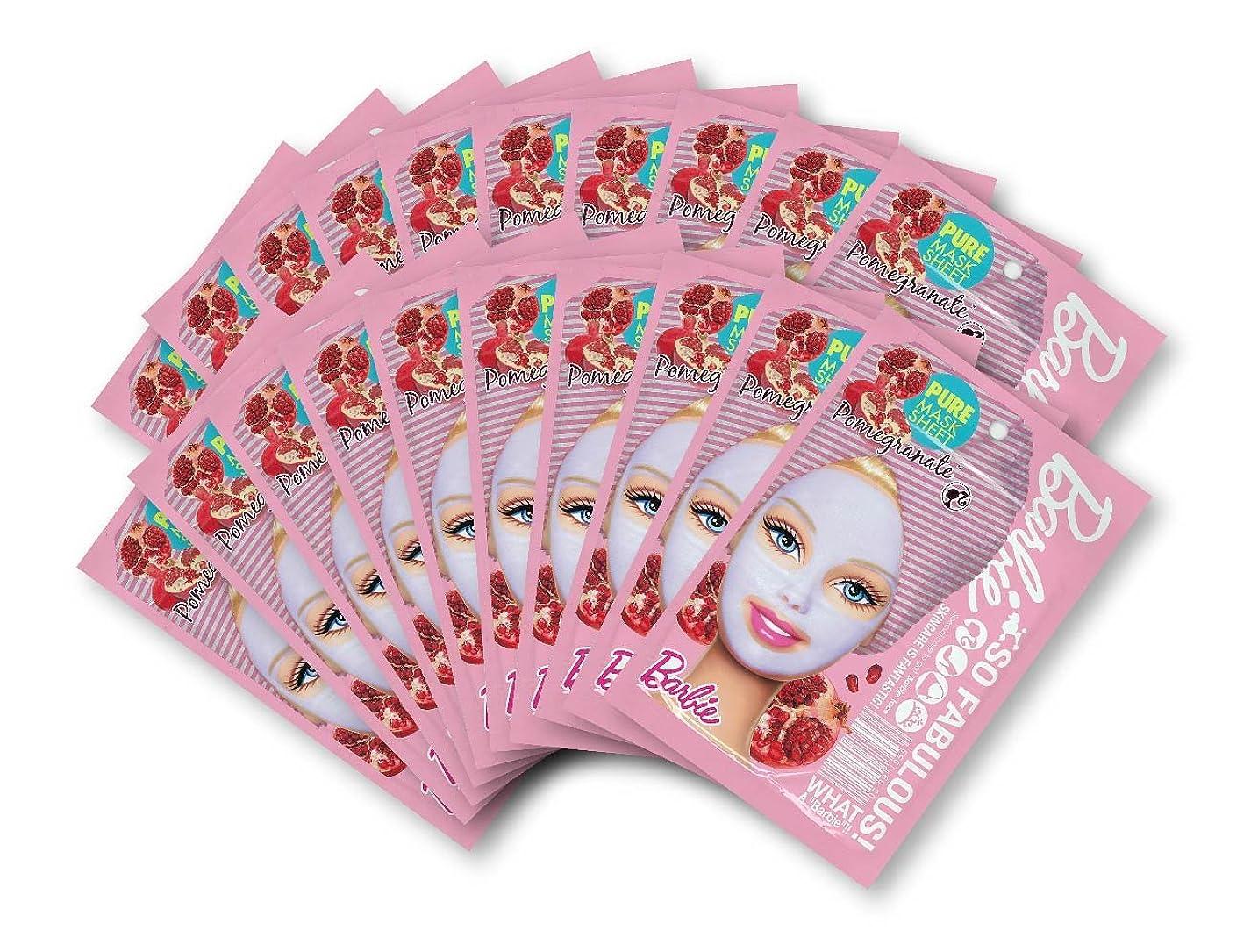 基準広がり趣味バービー (Barbie) フェイスマスク ピュアマスクシートN (ポメグラネート/ざくろ) 25ml×20枚入り [保湿] 顔 シートマスク フェイスパック
