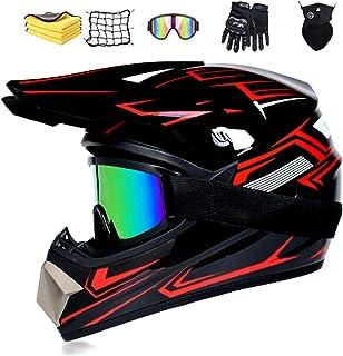 NJYBF Motocross Helme Downhill Helme Motorrad Crosshelme, Fullface Helm Endurohelme Kinder Motocross Dirt Bike Motorrad BMX MX Downhill Offroad Helm. L 56-57 cm