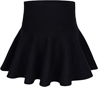 storeofbaby Little Big Girls High Waist Knitted Flared Pleated Skater Skirt Casual