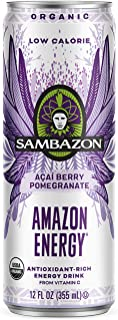 Sambazon Low Calorie Amazon Energy Acai Berry Pomegranate, 12 Fl oz (153240244)