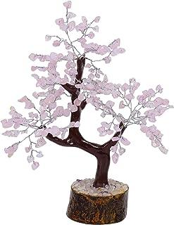 HARMONIZE Rose Quartz Stone Healing Bonsai Tree Feng Shui Spiritual Table Decor
