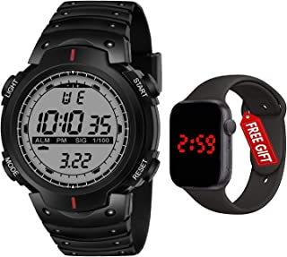 Frozil Shockproof Multi-Functional Automatic Black Strap Waterproof Digital Sports Watch for Men's Kids Watch for Boys - W...