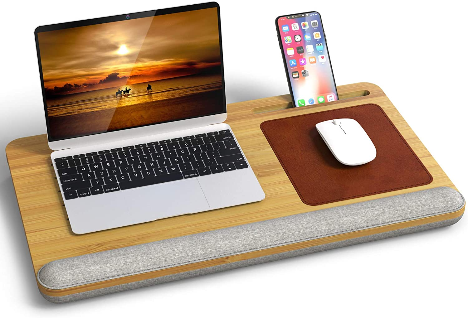 Laptop Desk Bamboo Lap for Pad Selling rankings Vent with Ho Ranking TOP3