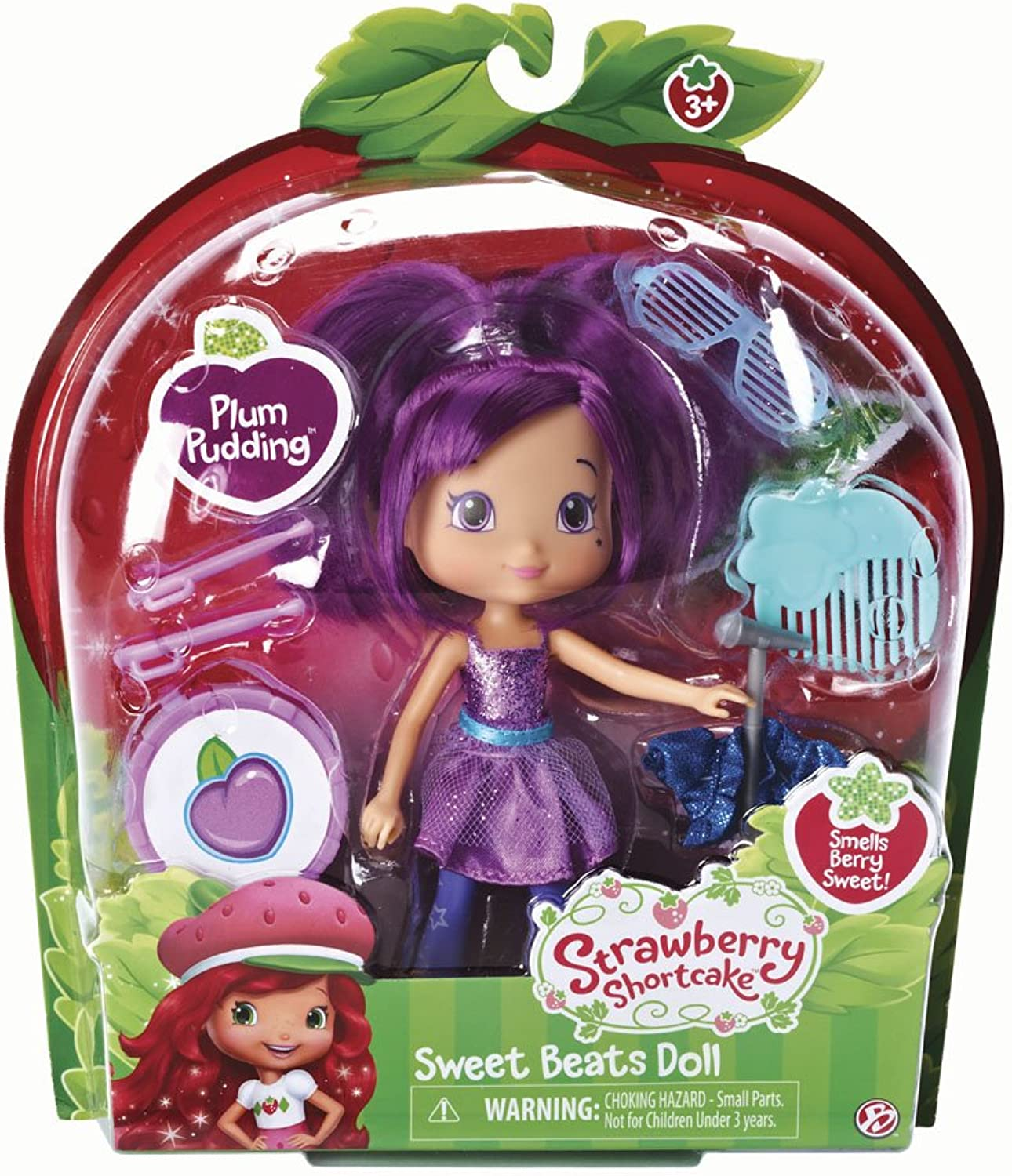 The Bridge Direct, Strawberry Shortcake Sweet Beats Doll, Plum Pudding, 6 Inches