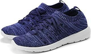 Women's Walking Shoes Slip On Athletic Running Sneakers Knit Mesh Comfortable Work Shoe