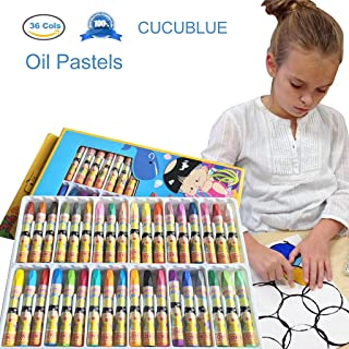 CUCUBLUE Oil Pastels, 36 Cols Washable Drawing Crayons, Water Pastels, Children Drawing Set, Smooth Blending Texture Drawing Supplies, School Art Supplies, Great Gifts for Kids on Christmas, Birthday