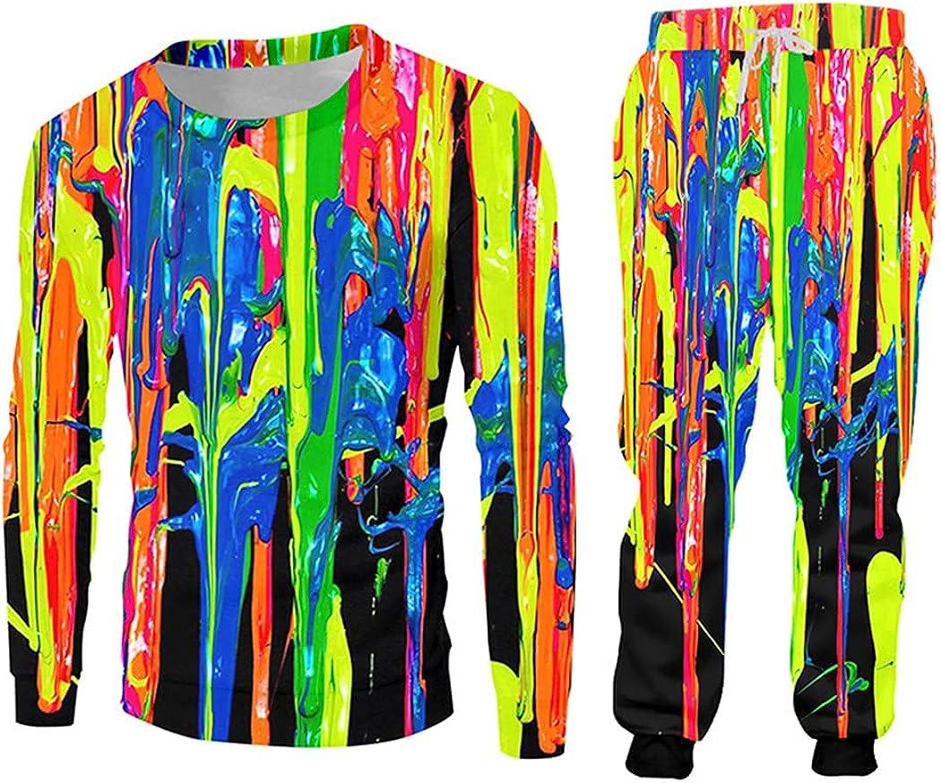 3D Genuine Print Rainbow Zip Hoodies Jogger Men's Funny Sweatshirt latest Suits