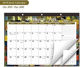 MONYES Desk Calendar October 2019 - December 2020, 16.8