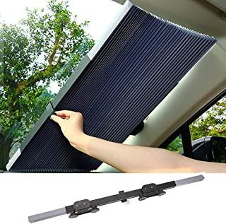 Retractable Car Windshield, lesgos Visor Sun Shade Auto Front Rear Side Window Blinds Sun Shades Anti UV Sunshades for Ful...