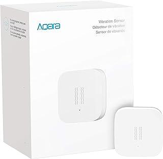 Aqara Vibration Sensor, REQUIRES AQARA HUB, Zigbee Connection, Wireless Mini Glass Break Detector for Alarm System and Smart Home Automation, Compatible with Apple HomeKit