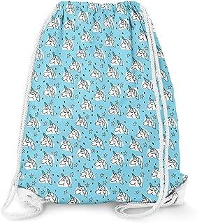 Unicorn Stars Blue - Large (13.3 x 17.3) - Drawstring Bag
