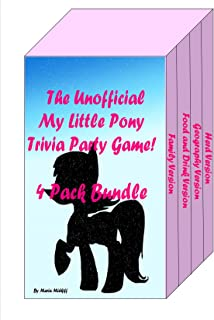 The Unofficial My Little Pony Trivia Party Game! 4 Pack Bundle