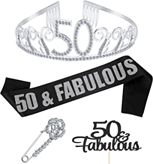 Best 50th birthday sash and crown Reviews