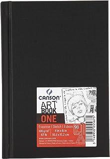 Canson Art Book One Carnet avec tranchefile Papier à dessin 100 feuilles 100g/m2 10,2 x 15,2 cm Blanc