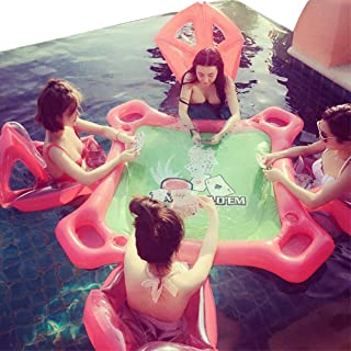 ZHONGJI Inflatable Water Table Chair Swimming Pool Inflatable Float Leisure Entertainment Desk Full Sets
