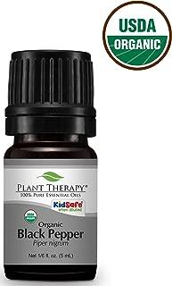 Plant Therapy Black Pepper Organic Essential Oil 5 mL (1/6 oz) 100% Pure, Undiluted, Therapeutic Grade
