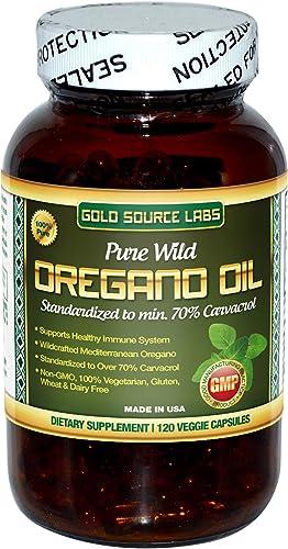 Wild Oregano Oil Capsules - 120 Liquid Veggie Softgels - Pure Standardized Wild Oregano Leaf Extract Offers 32 mg of Carvacrol for Immune System Health - Non GMO, Vegan, Gluten Free product image