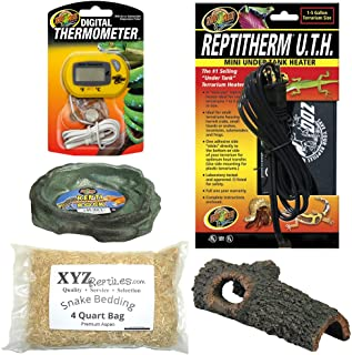 xyzReptiles Corn Snake Kit 10 Gallon Terrarium Starter Habitat Setup
